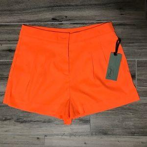 BRAND NEW Forever 21 Orange High Waist Shorts